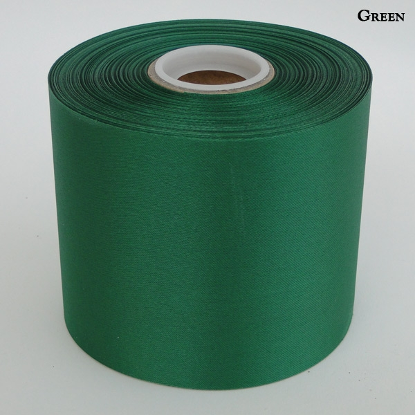 "4"" Green Blank Ceremonial Ribbon"