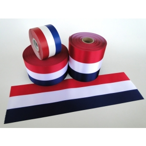 Red White Blue Satin Ribbon