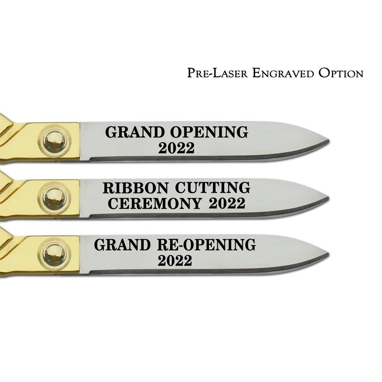 Pre-Laser Engraved Option, Chrome Blades