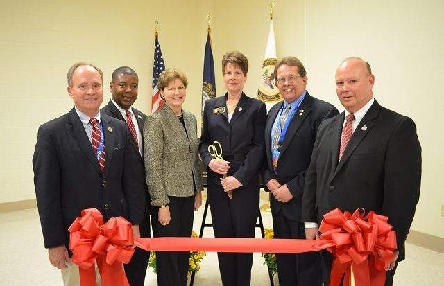 Ribbon Cutting for Federal Correctional Institution, Berlin. Rep. Charlie Bass, Sen. Jeanne Shaheen
