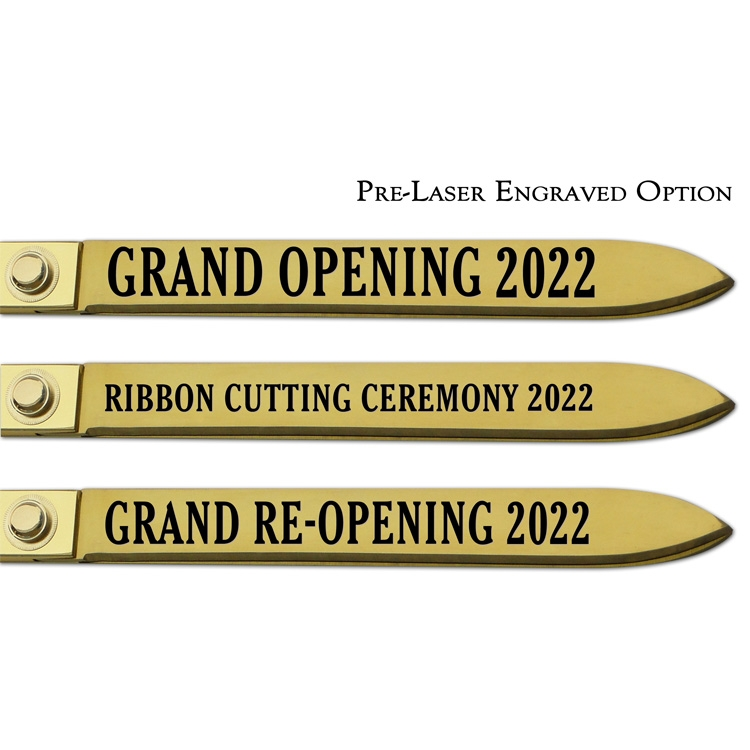 Pre-Laser Engraved Option, Gold Blades