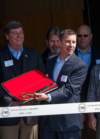 "20"" Ceremonial Scissors at a Ribbon Cutting Ceremony"