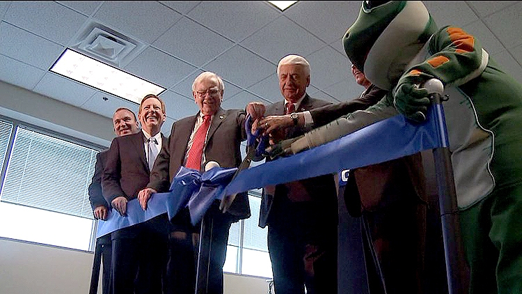 """25"""" Blue Scissors with Silver Blades, Ribbon Cutting Ceremony"""