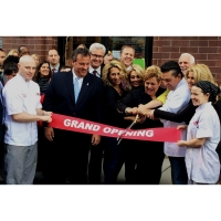 """6"""" Grand Opening Ribbon and 20"""" Ceremonial Scissors - Customer Event"""