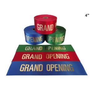 """4"""" Grand Opening Ribbon with Gold Lettering"""