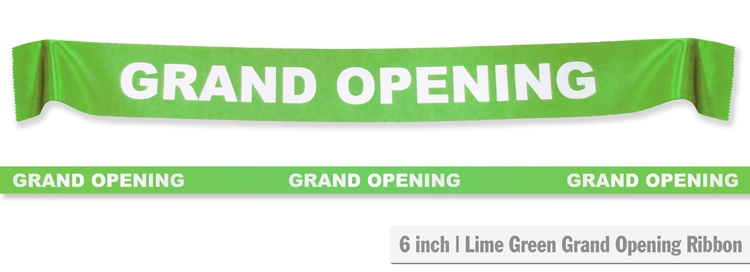 """6"""" Grand Opening Ribbon - Lime Green"""