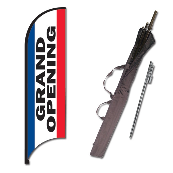 "Grand Opening ""Street Talker"" Feather Flag Kit"