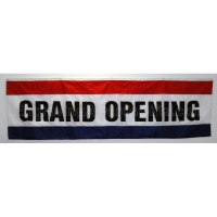 Grand Opening Flag, Horizontal