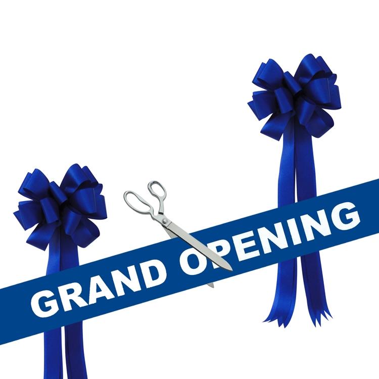 """Grand Opening Kit 15"""" Chrome Ceremonial Scissors"""