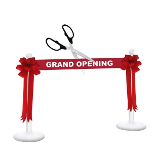 """Deluxe Grand Opening Kit 25"""" Ceremonial Scissors with Silver Blades"""