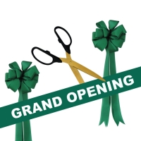 "Grand Opening Kit 25"" Ceremonial Scissors with Gold Blades"