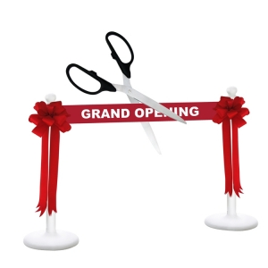 "Deluxe Grand Opening Kit 36"" Ceremonial Scissors with Silver Blades"