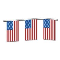 American Flag Cloth Pennants