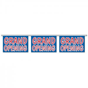 Grand Opening Red/White/Blue Pennants