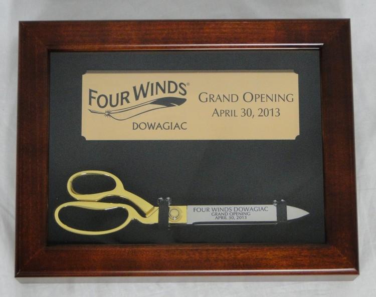 "10-1/2"" Ceremonial Ribbon Cutting Scissors Display Case"
