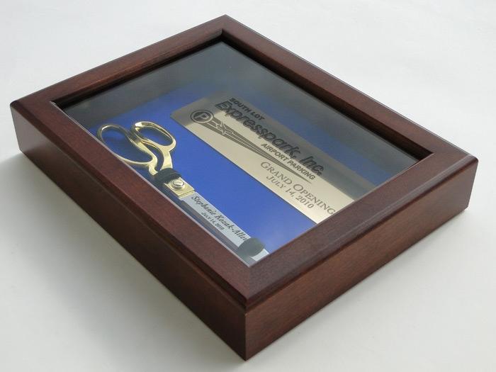 "10 1/2"" Ceremonial Scissors Display Case Side Profile"