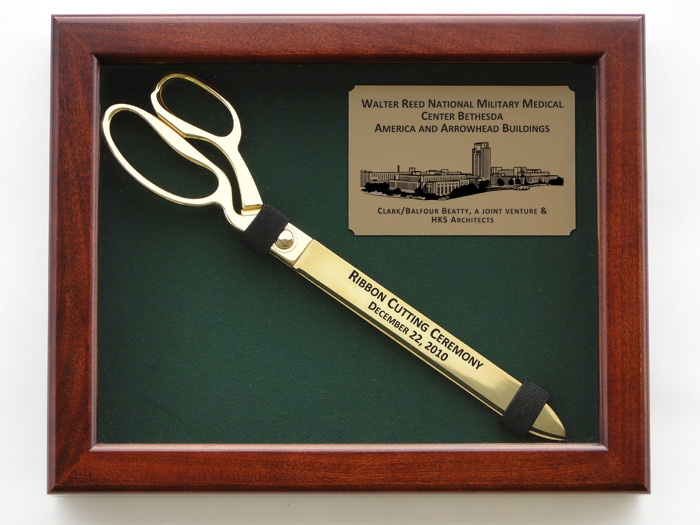 "15"" Ceremonial Ribbon Cutting Scissors Display Case"