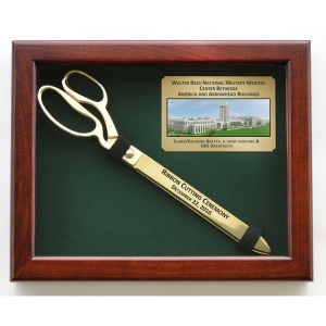 "Ceremonial Display Case for 15"" Gold Plated Ceremonial Scissors"