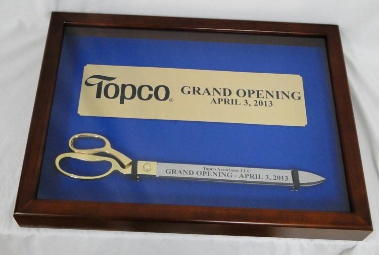 "20"" Ceremonial Ribbon Cutting Scissors Display Case"