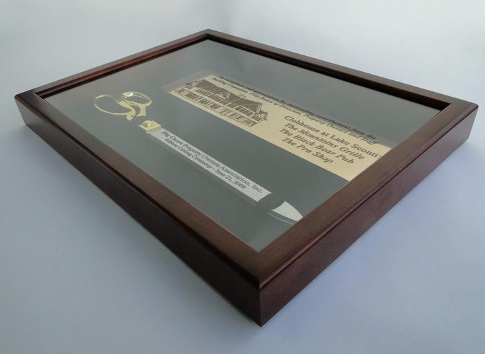 "20"" Ceremonial Scissors Display Case Side Profile"