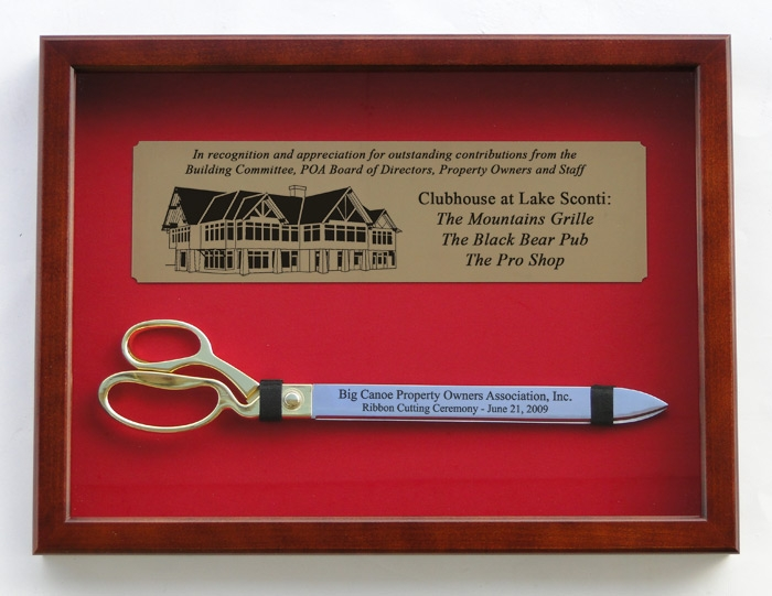 "20"" Ceremonial Ribbon Cutting Scissors with Case"