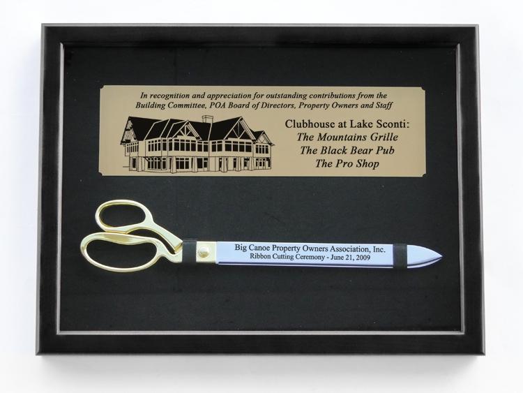 """20"""" Ceremonial Scissors in Black Display Case"""