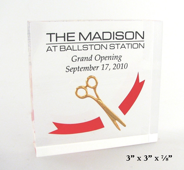 Ceremonial Scissors Embedment with a 2 Color Acetate
