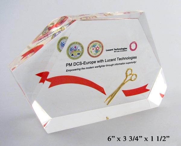 Faceted Ceremonial Scissors Embedment