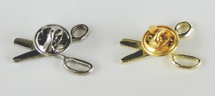 Ceremonial Scissors Lapel Pins - Back