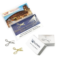 Ceremonial Scissors Lapel Pins, Gift Boxes & Cards