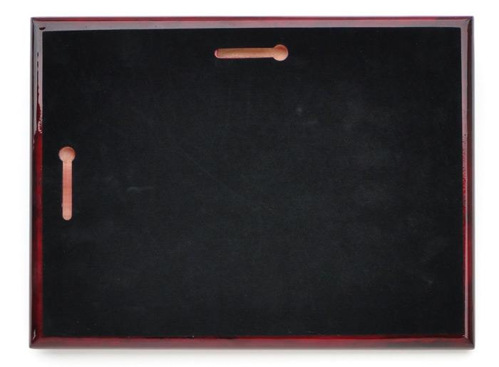 """10 1/2"""" Ceremonial Scissors Piano Finish Plaque"""