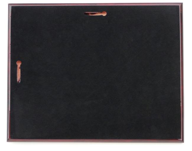 "15"" Ceremonial Chrome Plated Scissors Piano Finish Plaque"