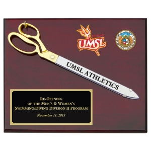 "20"" Ceremonial Scissors Rosewood Piano Finish Plaque"