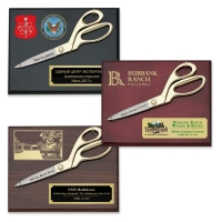 "9-1/2"" Ceremonial Scissors Piano Finish Plaques"