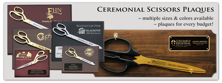 Ceremonial Scissors Plaques