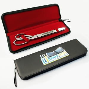"Black Presentation Case for 15"" Chrome Plated Ceremonial Scissors"