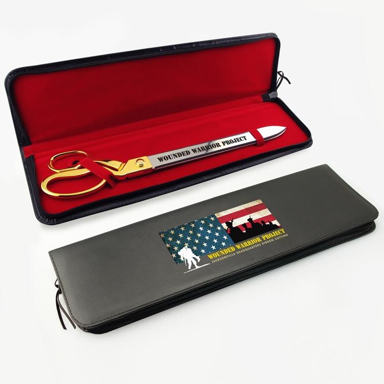 "Black Presentation Case for 20"" Ceremonial Scissors"