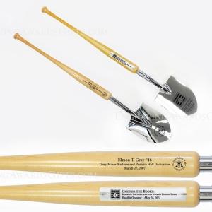 Baseball Bat Handle Show Chrome Ceremonial Shovels