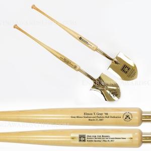 Baseball Bat Handle Show Gold Ceremonial Shovels