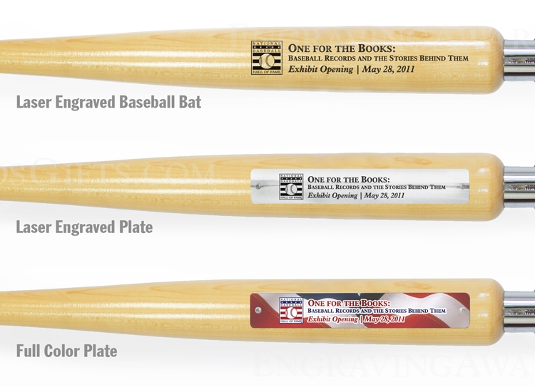 Engraving and Personalized Plates for Ceremonial Baseball Bat Handle Shovels