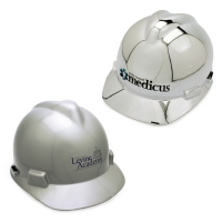 Ceremonial Groundbreaking Chrome/Silver Hard Hats