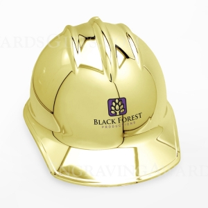 Gold Plated Ceremonial Hard Hats with Printing
