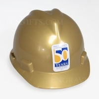 Gold Finish Ceremonial Hard Hat - Personalized