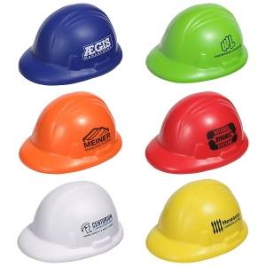 Assorted Color Hard Hat Shaped Stress Relievers