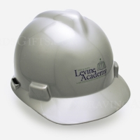 Silver Finish Ceremonial Hard Hat - Personalized
