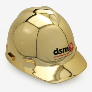 Show Gold Plated Ceremonial Hard Hat - Personalized