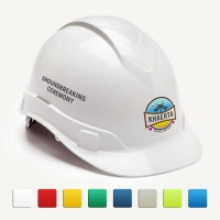 Ceremonial White Round Front Hard Hats