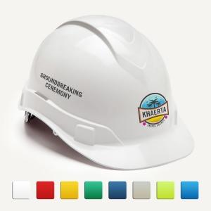 Ceremonial White Round Front Hard Hats