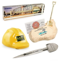 Ceremonial Shovel & Hard Hat Desk Accessories