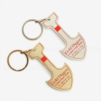 Gold and Silver Aluminum Shovel Keychains